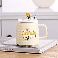 セラミックマグ朝食ミルクカップ コーヒーカップ400ml黄色リス