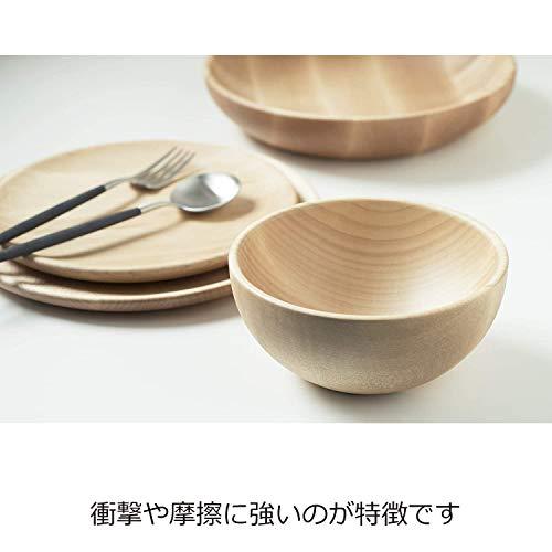 365methods 皿 木製 メイプルウッド ラウンドディッシュ 21cm MRB210HM ナチュラル
