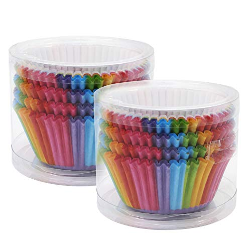OCR Paper Baking Cups Cake Liners Cupcake Muffin Cake Wrappers 200PCS(Rainbow-1)
