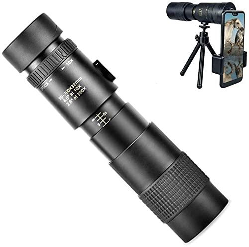 dh-7 Telescopio monocular de alta potencia HD monocular para observación de aves zoom telescopio monocular con soporte para smartphone y trípode para camping de vida silvestre