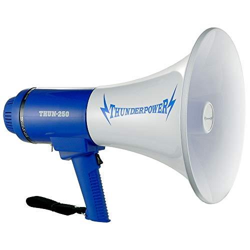 ThunderPower THUN250 Extra Loud ThunderPower 250 Megaphone - 25 Watts of Power