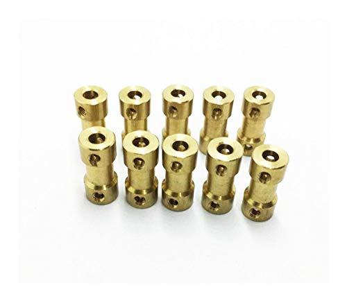 HDHUIXS Aplicable El Acoplamiento de Cobre Drive Shaft Conector del Motor órganos de Acoplamiento 2/2,3/3/4/5/6 mm a 2/2,3/3 / 3,17/4/5/6 mm For RC del Coche del Barco Durable (Color : 5mm 5mm)