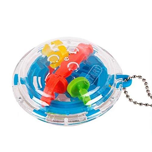 Tree-on-Life 36 Barriere Mini 3D Labirinto sferico Magic Maze Ball Puzzle Toy Portachiavi Catena Rotante Giocattoli per Bambini Portachiavi