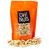 Oh! Nuts Whole Blanched Almonds   24oz Bulk Bag Supply of Raw Unsalted Skinless Snacking & Baking White Almonds   All Natural Low Sodium, Dairy & Sugar Free, High Protein, Cholesterol & Heart Healthy