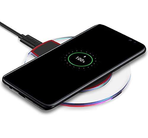 GreatFun Almohadilla de Carga del Cargador inalámbrico, Almohadilla de Carga inalámbrica, Compatible para Samsung Galaxy S10 / S10e / S10 +