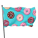 AOOEDM Flag Banderas Decorativas Exteriores de rosquilla de azúcar para Postre, Dulce y Delicioso, para Adultos, 3 x 5 pies, Colores Vibrantes, Calidad, poliéster y Ojales de latón