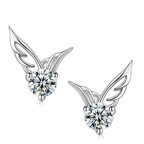 Earrings Women Studs Fashion Zircon Crystal Silver Plated Stud Earring Women Ear Jewelry Jewelry