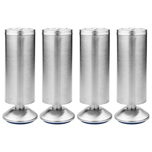Höhenverstellbare Edelstahl Schrank Beine Küche Füße Arbeitsplatte/Einheit/Frühstück Bar/Schreibtisch Sofa Tischbeine Möbel Beine (4er Pack)(50 * 150MM)