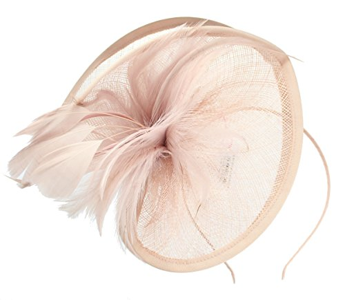 Nude Fascinator on Headband/ Clip-in for Weddings, Races and Occasions-5852
