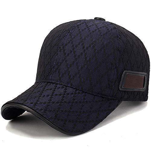 Astemdhj Unisex Baseball Caps Baseball Kappe Hut Vier Jahreszeiten Hüte Unisex Trend Reine Schwarze Baseballkappe Sommersonne Mann Hut Verstellbare Spitze Frauen Kappen Blau