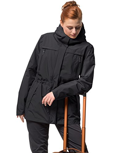 Jack Wolfskin Damen Fairway Jacket Winterjacke Wasserdicht Winddicht Atmungsaktiv Wetterschutzjacke, schwarz, L