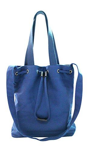 Kronya® | Elegante bolsa de tela | Embrague Bolso de mujer Bolso de mano mochila de compras bandolera (Azul)