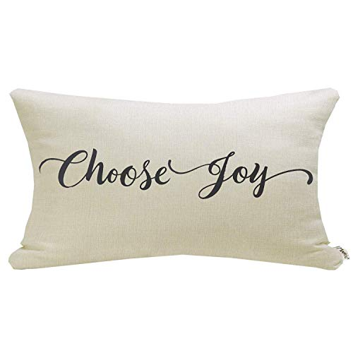 Meekio Farmhouse Pillow Covers with Choose Joy Quote 12