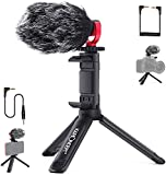 K&F Concept Video Microphone for Camera, Mini On-Camera Mic, External Shotgun Mic DSLR Microphone with Tripod, Shock Mount and Deadcat Windscreen, Vlogging Microphone for iPhone & Android Smartphones
