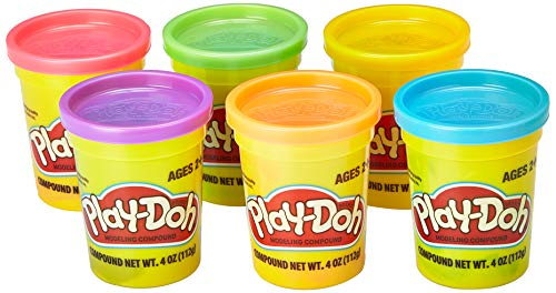 PlayDoh Assorted Colors 6Pack of NonToxic Modeling Compound 4Ounce Cans Kid Toys Collectible Playset   Blue Red Orange Purple and More   Girls and Boys