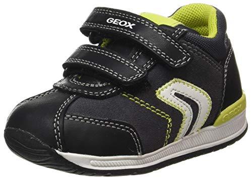 Geox Baby-Jungen B RISHON Boy B First Walker Shoe, (Dk Grey/Lime), 25 EU
