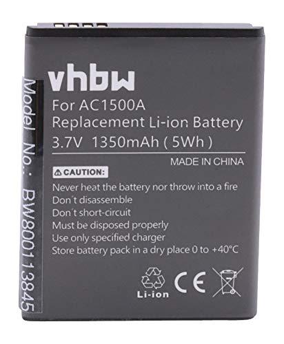 vhbw batteria compatibile con Archos 40 Titanium smartphone cellulare (1350mAh, 3,7V, Li-Ion)