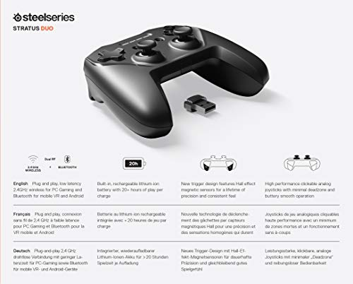 SteelSeries Stratus Duo – Wireless Gaming Controller – Android (Fortnite), Windows, Oculus Go, Samsung Gear VR - 11