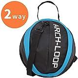 アーチループ(Arch Loop) ARCH-LOOP(アーチループ) バスケットボール ボールケース (1個入れ) 7号ボール対応 ブラック×アクアブルー 38051