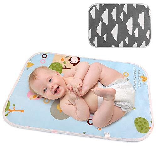 LEADSTAR Bambino Pannolini Tappetino per Cambiare il Pannolino del Bebè, Tappetino per Fasciatoio da Viaggio Riutilizzabile per il Cambio del Pannolino, Lavabile Impermeabile Materassino per Neonati