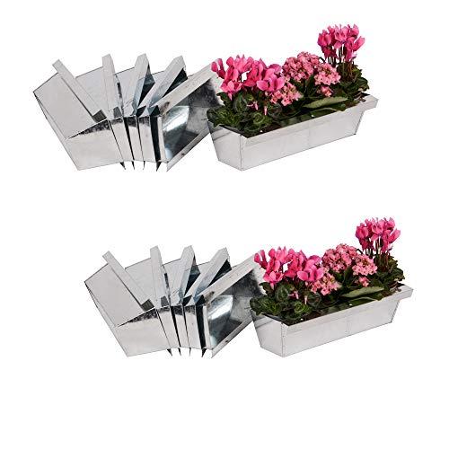 Nature by Kolibri Blumenkasten mit Aufhängung Set Balkonkasten Einsatz passend für Europaletten für Blumen, Kräuter und Früchte 12 Stück 38cm