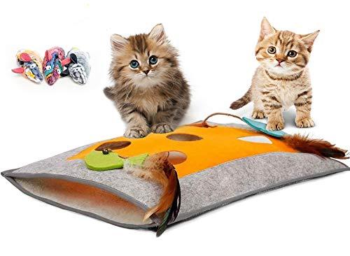 Crinkly Cozy Fleece & Felt Cat …