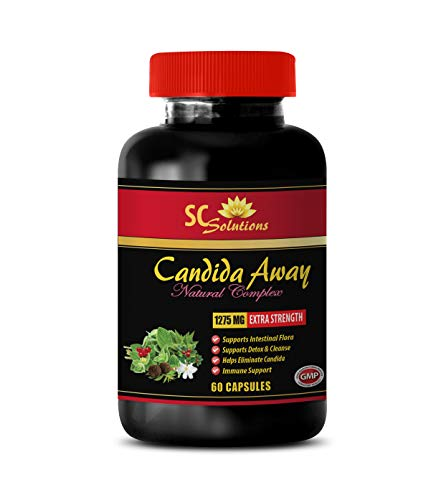 Blood Sugar Essentials - Candida Away Plus - Candida albicans - 1 Bottle (60 Capsules)
