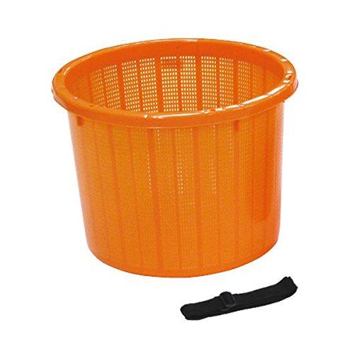 安全興業 丸型収穫かご オレンジ 大 ×20 容量:約20L