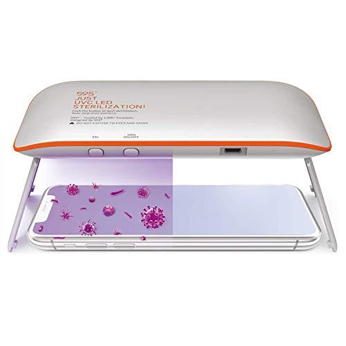 Sterilizzatore UV Portatile, 59S UV Sterilizzatore Professionale, Lampada di Sterilizzazione LED UVC Rapida 99,9% per Cellulari, Occhiali, Estetica