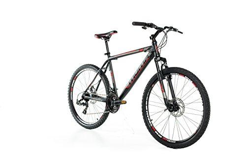 Moma Bikes MTB GTT - Bicicleta 26' Btt Shimano profesional, Aluminio, Unisex Adulto, Negro , XL (1,85-1,95 m)
