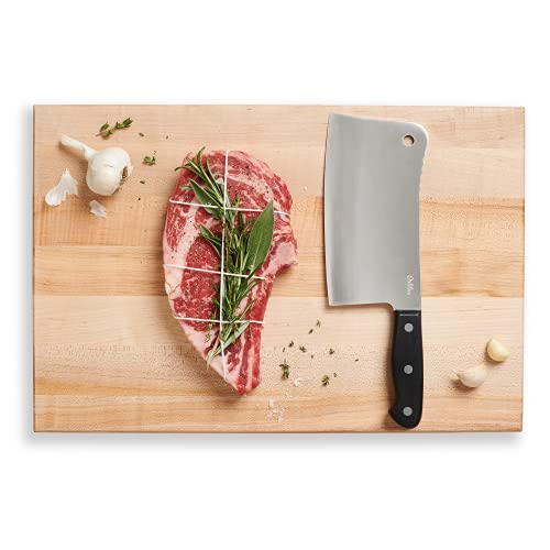 Orblue Premium Meat Cleaver - Stainless Steel Chef Butcher Knife for Cooking - Professional 7-Inch...