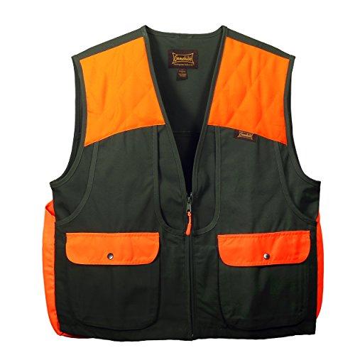 Gamehide Men's Upland Vest (Olive/Orange, Medium)