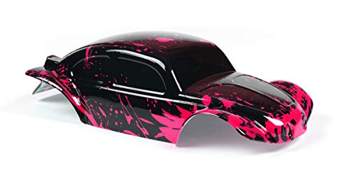 Custom Body Muddy Hot Pink Over Black Compatible for 1/10 Slash 4x4 VXL 2WD Slayer RC Car or Truck (Truck not Included) SSB-BB-01