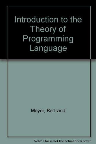 Introduction to the Theory of Programming Languageの詳細を見る