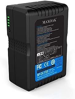 MAXOAK V Mount Battery 158Wh 10700mAh 14.8V V Lock Battery w/D-tap USB & Adapter Charger for Sony URSA BMCC Canon EOS Camcorder Camera LED Panel(TSA Approved for Airline Travel)