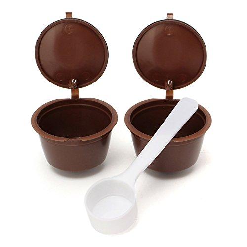 King DO Way - Filtri capsule riutilizzabili 2in 1, per caffè espresso, con cucchiaio, per Dolce Gusto, 54 x 35mm