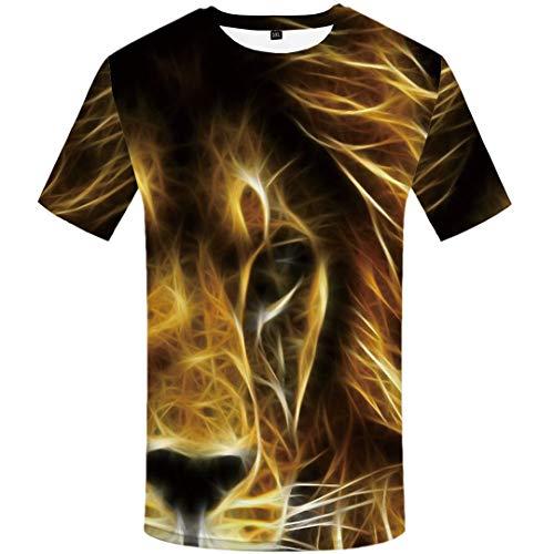 Tiger T Shirt Men Animal Tshirt Forest 3D Print T-Shirt Hip Hop Tee Slim Cool Mens Clothing Summer 3D t Shirt 16 XL