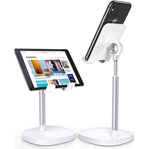 Soporte de teléfono móvil, funda gruesa ajustable en altura, soporte para tablet, para teléfono móvil, apto para oficinas y todos los teléfonos móviles, iPhone, Android, iPad, Huawei
