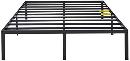 Zinus Yelena 14 Inch Classic Metal Platform Bed Frame with Steel Slat Support / Mattress Foundation, Queen