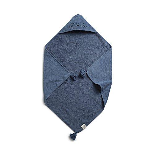 Elodie Details Cape de Bain Bébé 100% Coton Oeko-Tex 80 x 80 cm - Tender Blue, Bleu