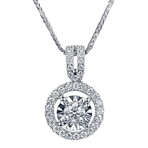 CHENLING S925 collar de plata diamante natural con moissanita colgante de piedra preciosa para las mujeres moda plata 925 joyería collar colgante