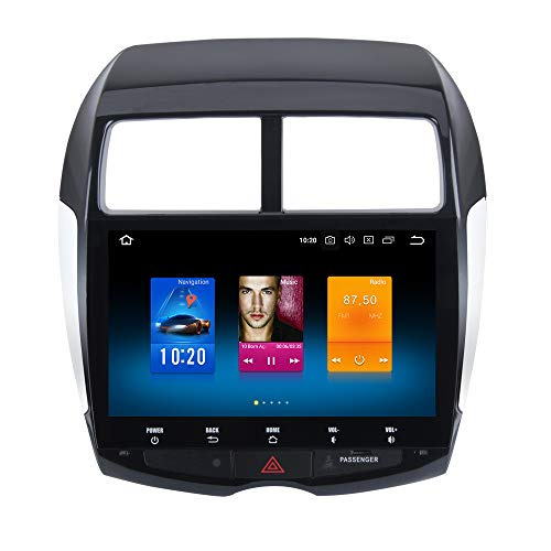 Dasaita 10.2' Android 9.0 1 Din Radio Pantalla para Coche 4G RAM 32G ROM para Mitsubishi ASX 2010 2011 2012 Peugeot 4008 Citroen C4 Aircross Autoradio con GPS Soporte WiFi DAB+ FM/AM Mandos de Volante