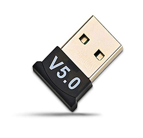Adaptador Bluetooth 5.0 USB Dongle USB, Bluetooth, receptor Bluetooth USB para ordenador portátil, PC, compatible con Windows 10/8/7/XP, Vista, transmisor Bluetooth para PC, impresora, auriculares