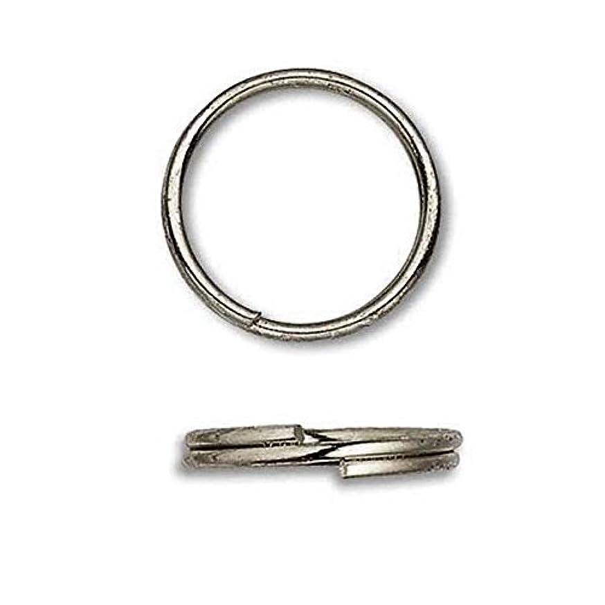 100 Plated Steel 12mm Round Double Loop Split Ring Jewelry Findings (Gunmetal)