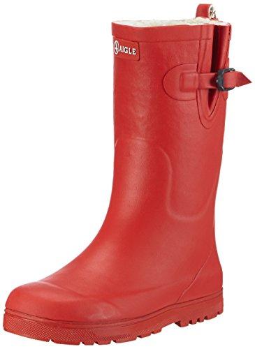 Aigle Unisex-Kinder Woodypop Fur Gummistiefel Rot (Cerise 8) 27 EU