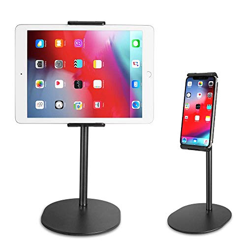 EICAUS Tablet Stand Holder&Cell Phone Stand for Desk,360 ̊ Rotating,Compatible with 5.5'' to 11''Screen Phones,iPad,Kindle, ipad&iPhone Stands and Holders,Adjustable Phone Holder from 5.5'' to 8.5''