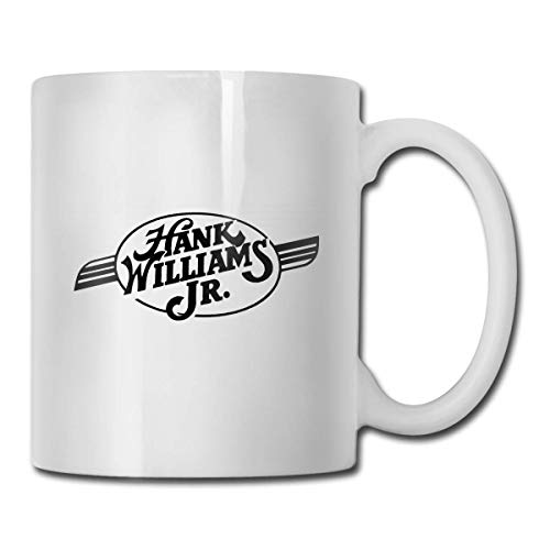 Hank Williams Jr - Taza de café o té con mensaje 'Happy Little Scene Appears', viene en una divertida caja de regalo