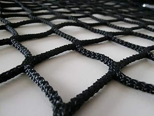 Redes de protección y Seguridad de Polipropileno Negro sin Nudos 3 mm Malla 45. para Balcones, terraza, pasamanos etc … (6mx2m)