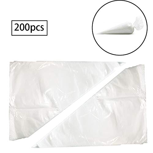 inherited 200pcs Manga pastelera desechable, de plástico