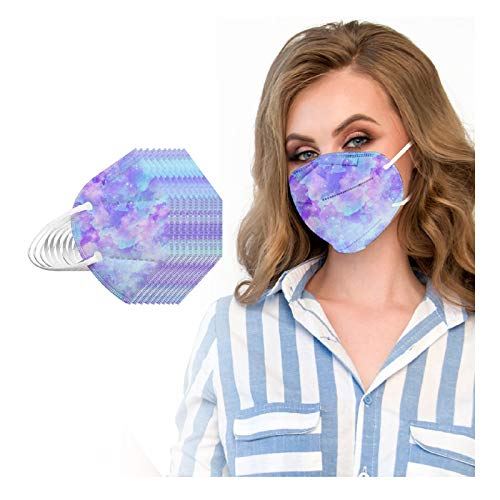 20pcs FDẴ Certified Tie Dye Disposаble_𝙉𝟵𝟱_Mẵsk, 5 Layers Cup Dust Safety Face ṁàsḱs for Coronàvịrụs Protectịon, Safety Facial Mouth Covers